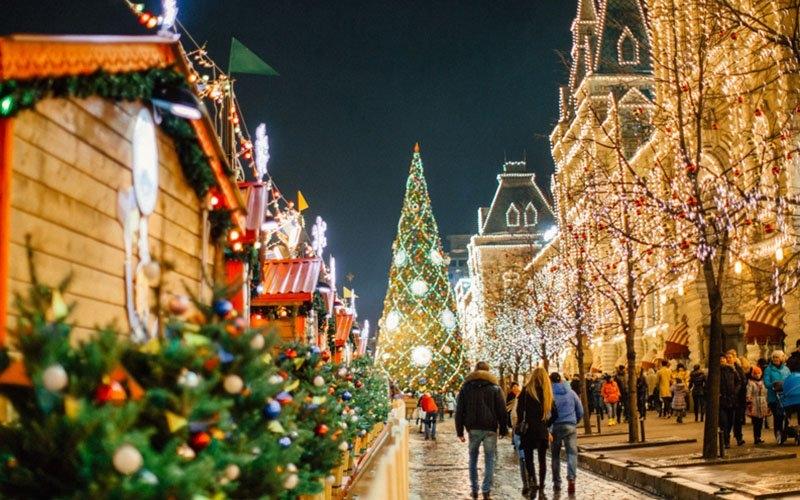 Москва в новогодние праздники 2019