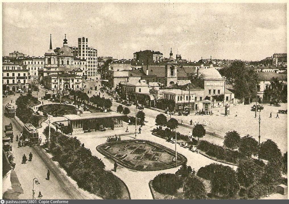 Кинохроники старой Москвы. Арбатская площадь в 1926 г.