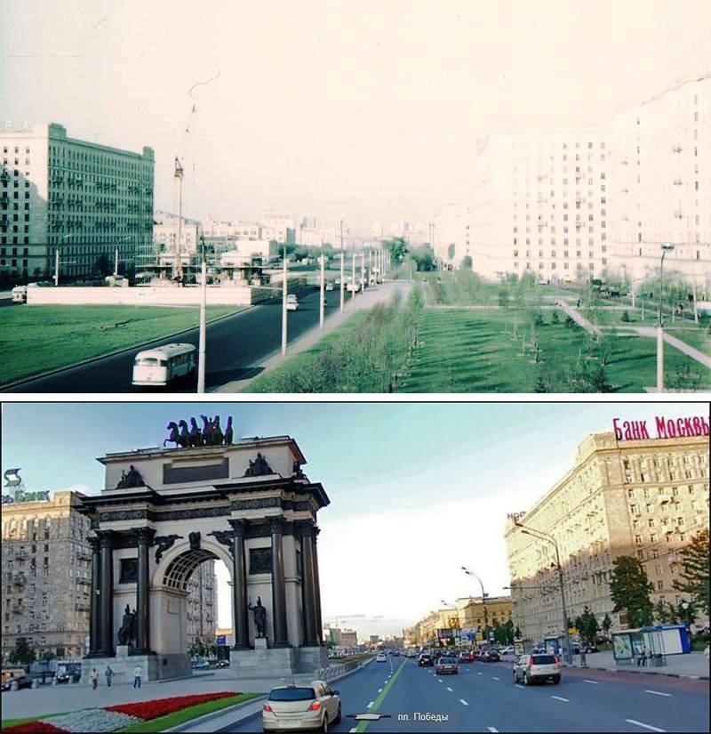 Кутузовский проспект: 50-е годы и современность. Как менялась Москва